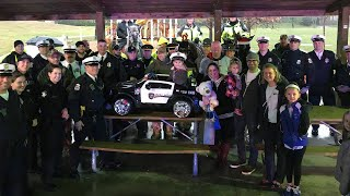 6-year-old boy, diagnosed with cancer, gifted Power Wheels police cruiser by local officers