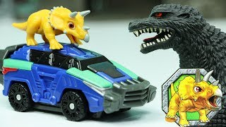 공룡메카드 타이니소어 트리케라 알키온 공룡캡슐 캡처카 장난감놀이 뽀로로 아기공룡을 구해줘! Dinosaur Mecard Toy Cars