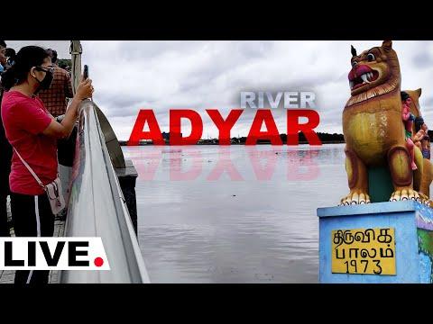 Nivar Cyclone 🔴Live Update - Adyar River Exclusive Video | HD