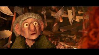 Принцесса Мерида в Гостях у Ведьмы ... отрывок из мультфильма (Храбрая сердцем/Brave)2012