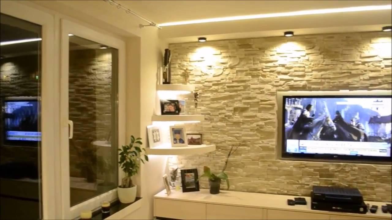 7 Sciana TV w kamieniu ozdobnym%2C TV in a stone wall decorative Tv ...
