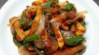 झटपट बनाये मज़ेदार चिल्ली पोटेटो.Chilli potato Recipe in Hindi, How to make spicy chilli potato