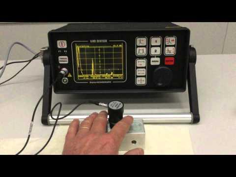 ** Ultraschall Messung Zur Materialprüfung