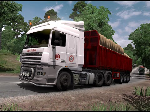 ETS 2 | DAF XF Space Cab Plus Siba Surya Logistik Cargo 25 T Part II
