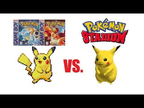 Pokemon Cries Comparison: Red & Blue vs. Stadium