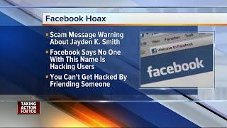 Message about Jayden K. Smith is Facebook hoax