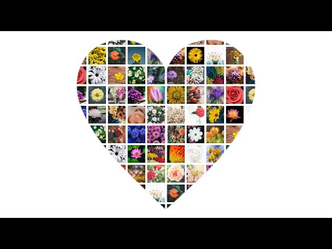 Make Heart Shaped Photo Grid Collage In 60 Seconds | FigrCollage
