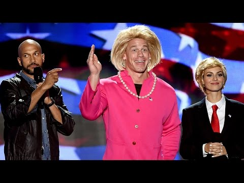 Victoria Justice & John Cena Dress Up as Donald Trump & Hillary Clinton