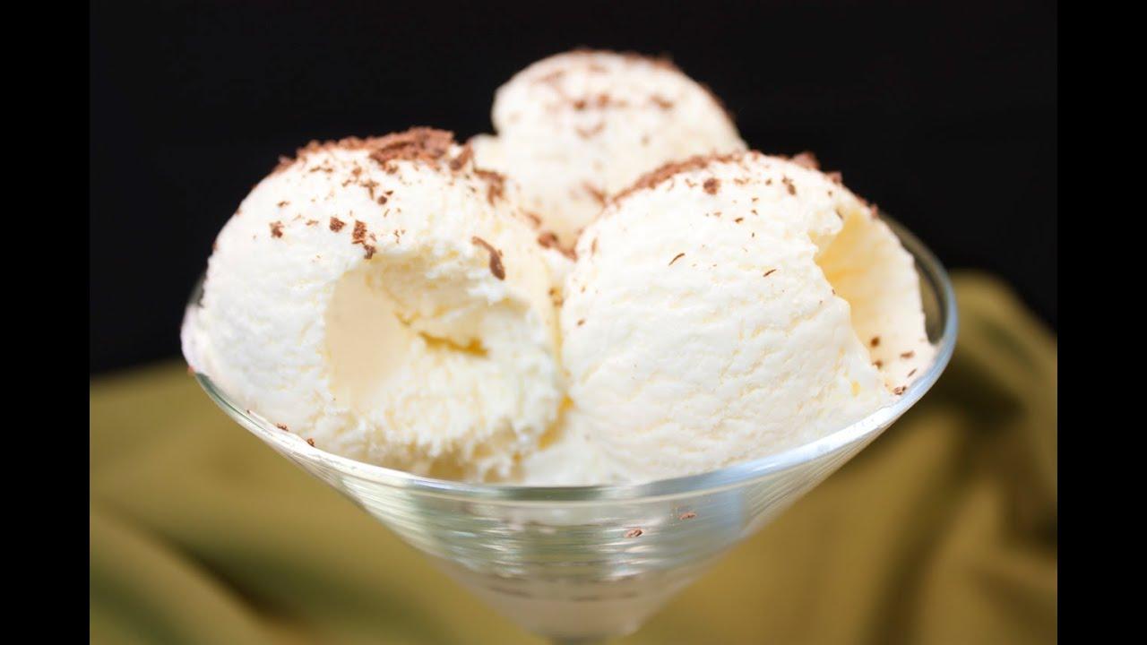 Рецепт ванильного мороженого в домашних условиях