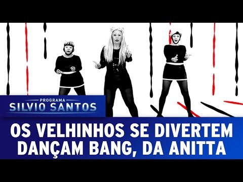 Os Velhinhos Se Divertem dançam Bang, da Anitta