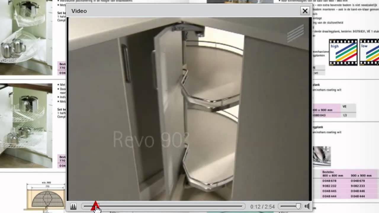 Keuken Carrousel Ikea : Vouwdeur hoekkast draaibeslag 90 graden – YouTube