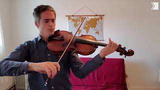 Victor Fournelle-Blain plays Bach on a 220 year old Amati viola | Musical Moment