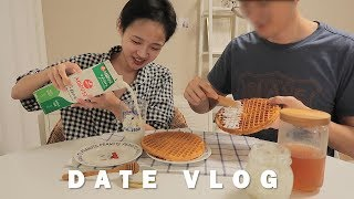 (eng)couple VLOGㆍ1 Hour date vlog with making Waffle🥞, Shopping & travel to Jeonju