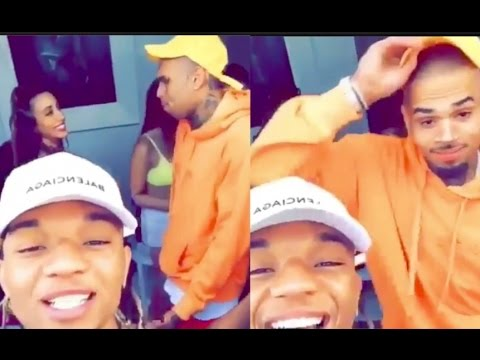 Rae Sremmurd CATCHES Chris Brown Sliding on Groupie at Day Party!