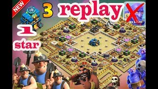 th 12 war base 2018 | clash of clans  | 3 with replay