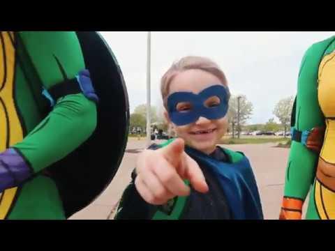 Wyatt leads the Ninja Turtles at Stillwater high school-Bridging Rooms Project #8