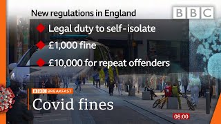 Covid: £10,000 fines for self-isolation breaches @BBC News LIVE on iPlayer - BBC
