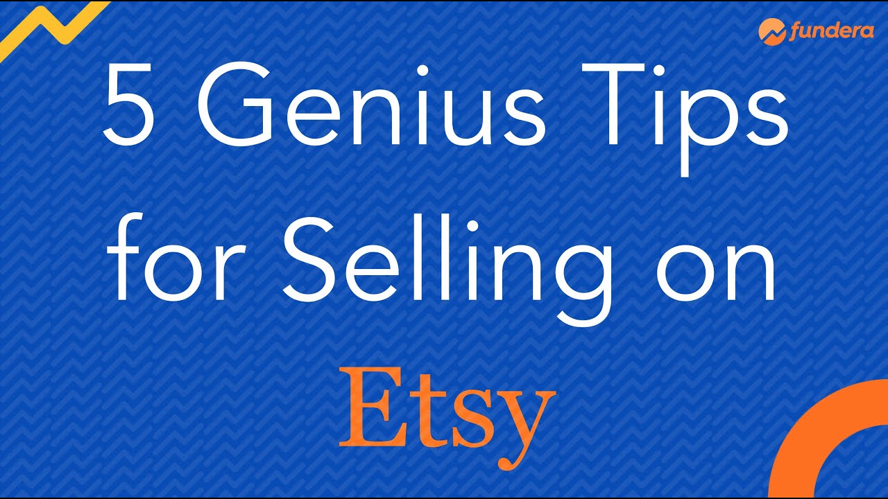 5 Genius Tips for Opening an Etsy Shop