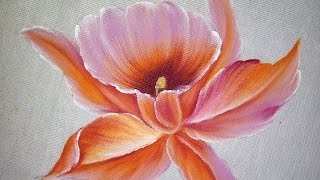 Como pintar Orquídea