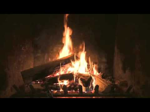 Yule Log with Christmas Music and Loud Married Couple Fighting