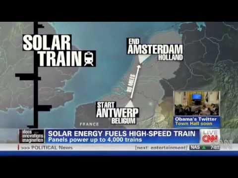 Solar Energy Fuels high-speed train