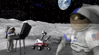 Moonbase Alpha Funny Moments - Text to Speech Singing