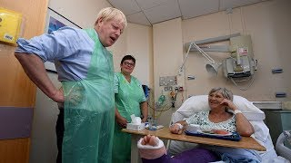 Boris Johnson serves hospital food in Torbay