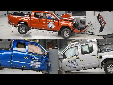 Crash Test 2017 Pickup Trucks – Colorado, Tacoma, Frontier