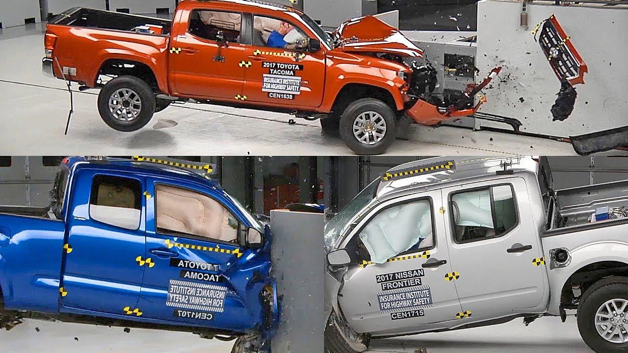 Crash Test 2017 Pickup Trucks Colorado Tacoma Frontier
