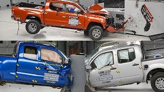 Crash Test 2017 Pickup Trucks Colorado, Tacoma, Frontier смотреть