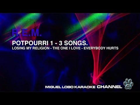 R.E.M. - POTPOURRI 1  - 3 SONGS - Karaoke