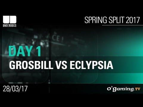 GrosBill vs Eclypsia - Underdogs 2017 Spring Split - Day 1 - League of Legends