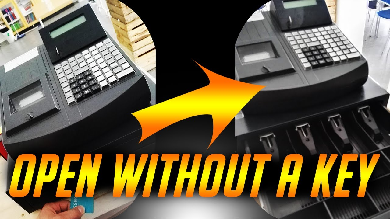 how to open a cash register without a sale