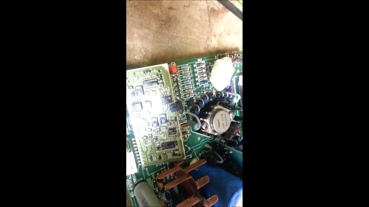 Compaq portable 286 power supply failure - YouTube