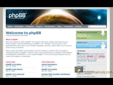 Install Free Forums on Your Site - phpBB