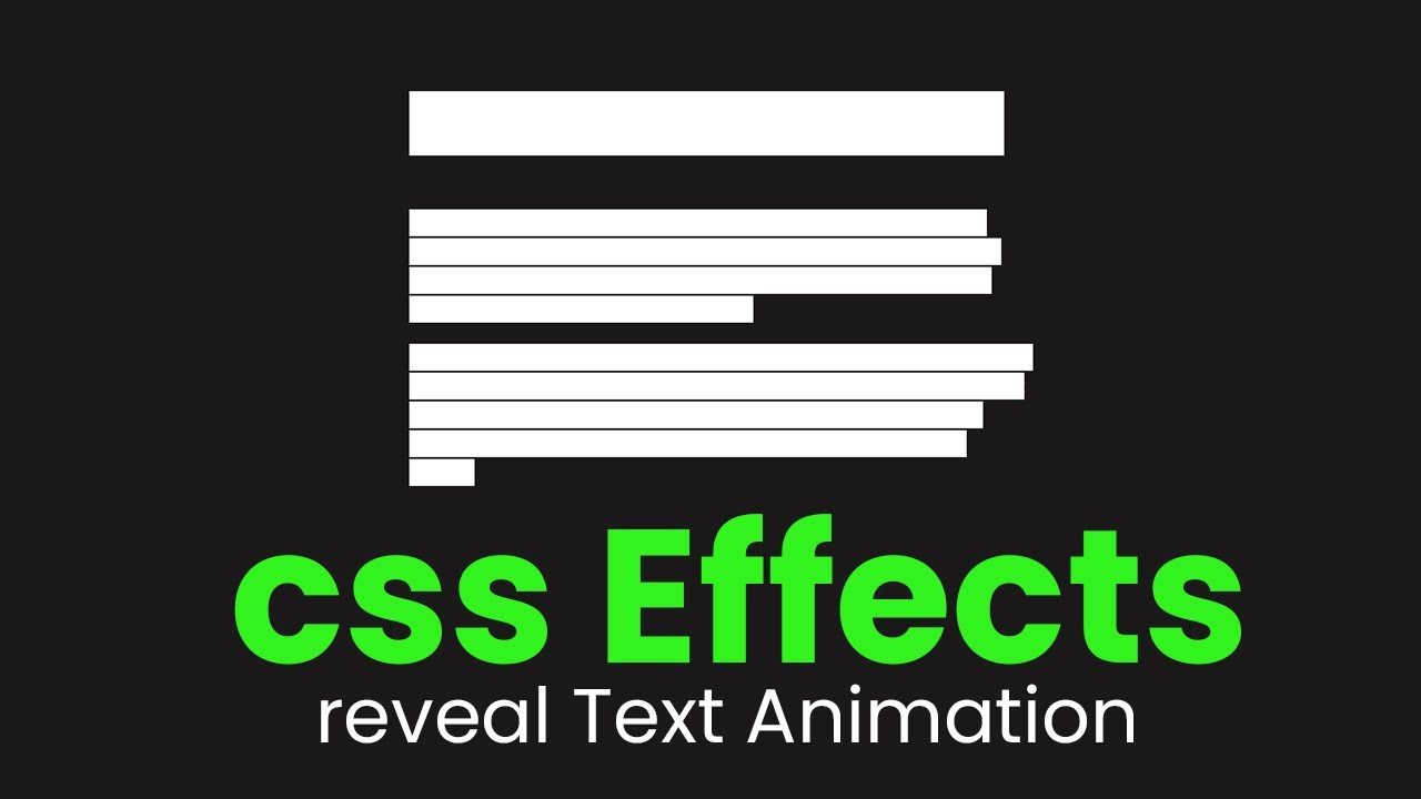 Reveal Hero Text Animation Hover Effect - CSS Effects in 3 Minute