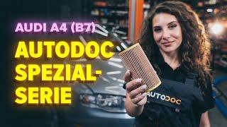 Wie Sie Motorölfilter beim AUDI A4 (8EC, B7) selbstständig austauschen - Videoanleitung