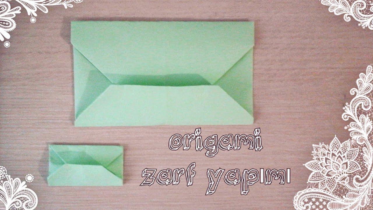 El İşi Kağıdından Zarf Yapımı Resimli Anlatım