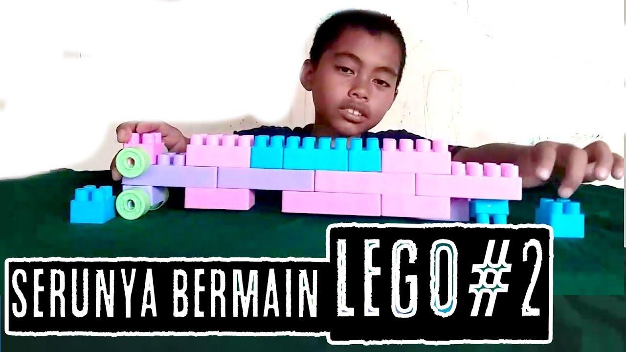 MENGASAH KREATIFITAS ANAK DENGAN BERMAIN LEGO BONGKAR PASANG - #HaidarFatin