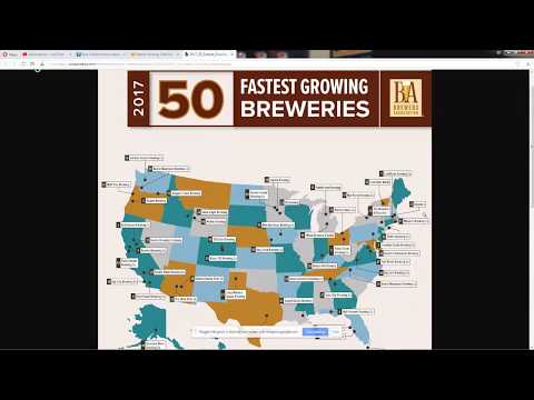 Brewers Association Fastest Growing Craft Breweries of 2017