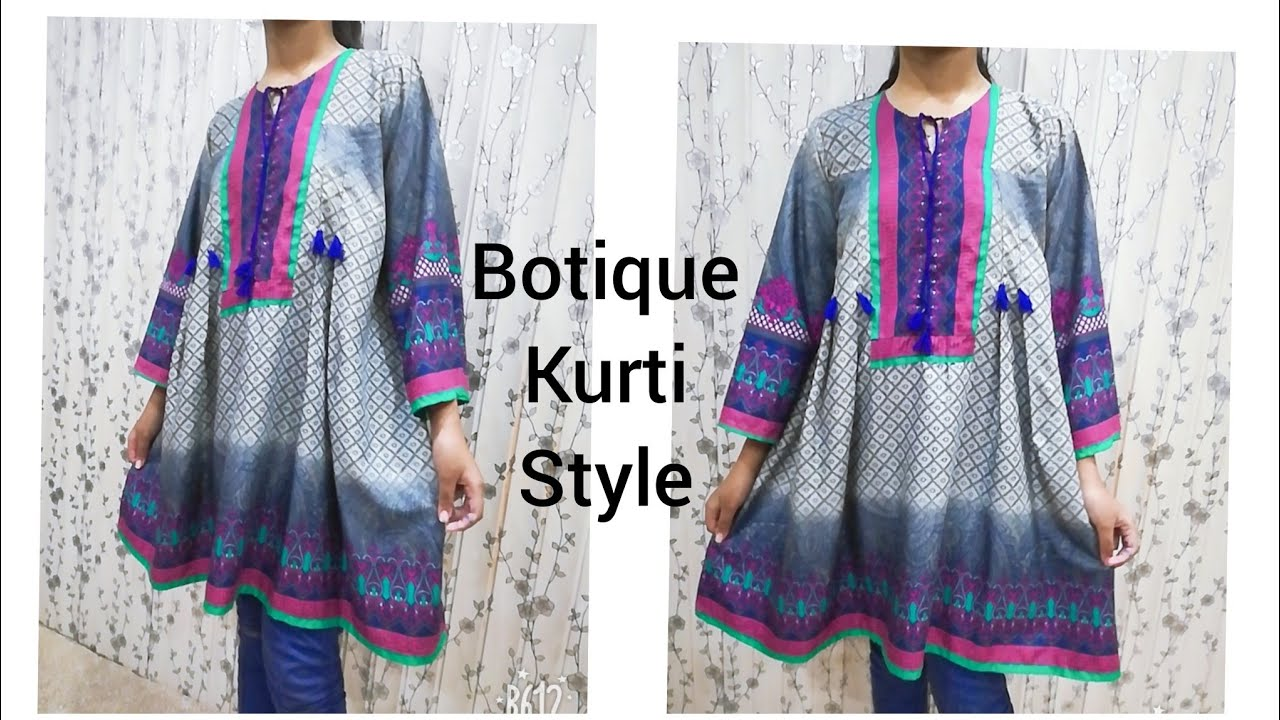 How To Make Boutique Style Kurti /Cutting and Stitching in Hindi/Urdu #1