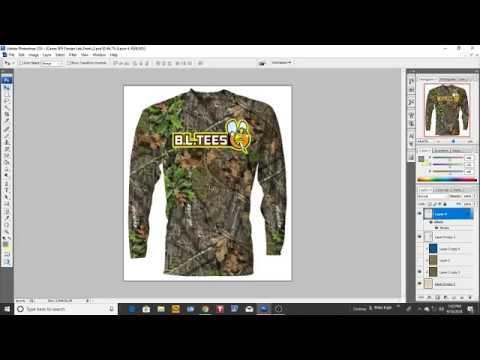 B L  Tees Custom Camo Dri Fit Spf Tech Fishing Shirts Screnn Pring Apparel Design Online