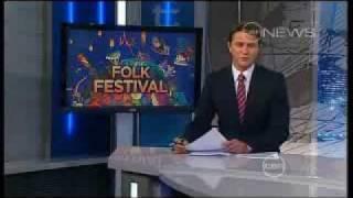 Skipping Girl Vinegar - Channel 10 News - Woodford Folk Festival 2011