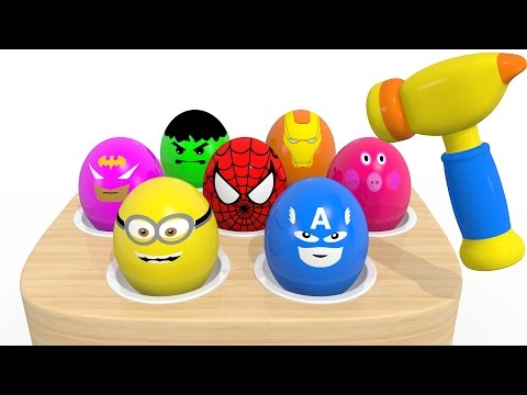 Thumbnail: Learn Colors With Surprise Eggs Whac a Mole for Children Kids - Colours For Toddlers