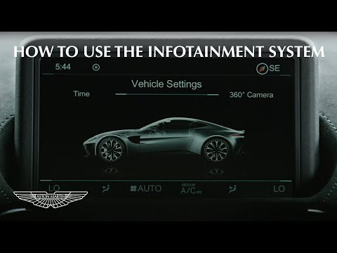How to use the Aston Martin Vantage Infotainment system