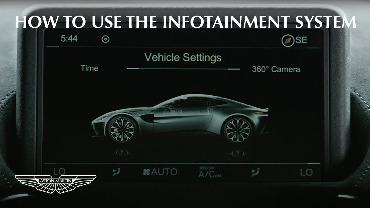 How To Use The Aston Martin Vantage Infotainment System Youtube