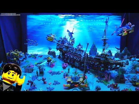 Undersea LEGO update: TV backdrop & sound! Jan. 15, 2018