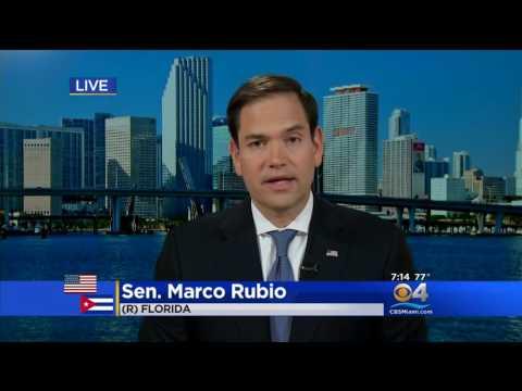 Rubio discusses Cuba policy, Russia investigation, political violence on CBS4 Miami