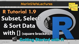 How to Subset Data in R With Square Brackets and Logic Statements (R Tutorial 1.8)
