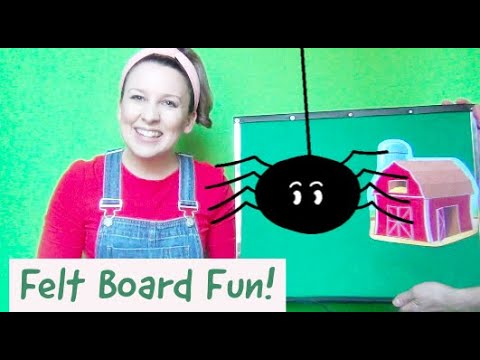 Felt Board Toddler Activities For Language And Speech Development - Itsy Bitsy Spider Flannel Board